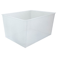 Clever Closet 285mm White 3 Runner Mesh Basket