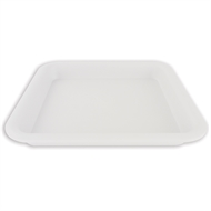 HomeLeisure White Square Balconia Saucer - 220mm