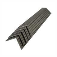 Metal Mate 25.4 x 25.4 x 1.5mm 1m Aluminium Bronze Fluted Angle