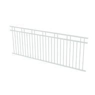 Protector Aluminium 2450 x 900mm Double Top Rail 2 Up 2 Down Fence Panel - Pearl White
