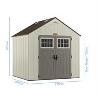 Suncast 2550 x 2120 x 2610mm Tremont Resin Shed