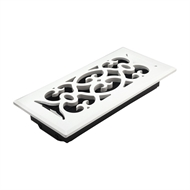 Accord 10 x 30cm White Finish Victorian Floor Vent