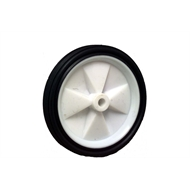 Ambassador 100mm White Plastic Centre Wheel And Rubber Tyre