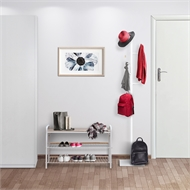 Flexi Storage Living White / Oak Coat Stand