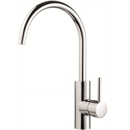 Flexispray WELS 4 Star Curved Medea Gooseneck Sink Mixer