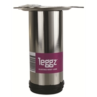 Leggz 60 x 150mm Round Brushed Nickel Metal Furniture Leg