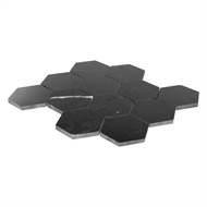 Decor8 Tiles 260 x 298mm Black Hexagon Nero Marble Mosaic Tile
