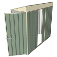 Build-a-Shed 0.8 x 2.3 x 2m Hinged Door Tunnel Shed with Single Sliding Side Door - Green