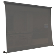 Windoware 1.8 x 2.1m Sunscreen Retractable Outdoor Blind - Black