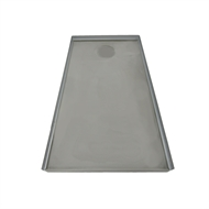 Showerline 900 x 1700mm Rear Outlet Shower Tile Tray (4 Sided)