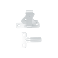 Protector Aluminium D-Latch and Striker Pack - Pearl White