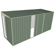 Build-a-Shed 1.5 x 4.5 x 2m Sliding Door Tunnel Shed with Sliding Side Door - Green