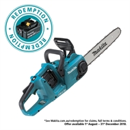Makita 2 x 18V Brushless Cordless Chainsaw - Skin Only