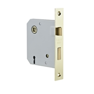 Lane Security Polished Brass Mortise Entry Lock