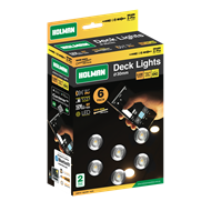 Holman 30mm Warm White Deck Light - 6 Pack