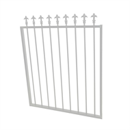 Protector Aluminium 975 x 1200mm J Spear Top Garden Gate - To Suit Gudgeon Hinges - Pearl White