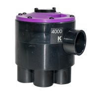 K-Rain 4000 Series Indexing 6 Outlet Valve Cammed For 3 Zone Operation