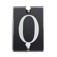 Sandleford 140 x 80mm 0 Black Glass Numeral
