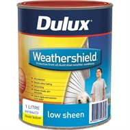 Dulux Weathershield 1L Low Sheen Bold Yellow Exterior Paint