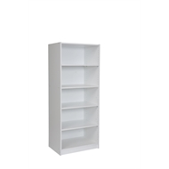 Multistore 1650 x 608 x 450mm White 4 x Adjustable Shelf Wardrobe Insert