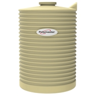 Polymaster 1000L Round Corrugated Poly Water Tank - Wheat