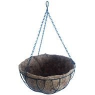 Lotus 30.5cm Green Hanging Basket With Liner