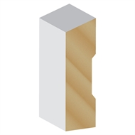 Hume 66 x 18mm x 5.4m Single Bevel Primed Finger Jointed Pine Moulding