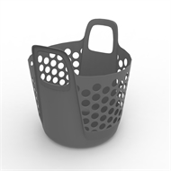 Ezy Storage 27L Flexi Laundry Basket  - Grey
