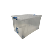 Inabox 52L Clear Storage Container With Wheels