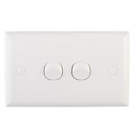DETA Solid Plate Double Switch