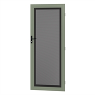 Protector Aluminium 808-848 x 2030-2070mm Adjustable Perforated Security Door - Pale Eucalypt