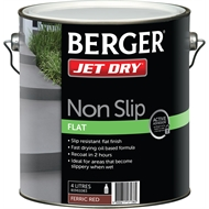 Berger Jet Dry 4L Non Slip Ferric Red Paving Paint