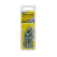 Zenith 10g x 30mm Zinc Plated Hinge-Long Thread Timber Screws - 25 Pack
