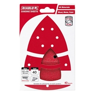 Diablo 102 x 62mm 40 Grit Abrasive All Surface Multi Sander Sheets - 10 Pack
