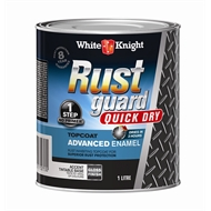 White Knight Rust Guard Quick Dry Advanced Enamel 1L Accent Gloss Base