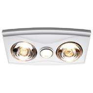 Heller White LED 3 in 1 Bathroom Heater