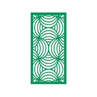 Protector Aluminium 900 x 1200mm Profile 10 Decorative Panel Unframed - Light Green