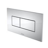 Caroma Chrome Invisi Series II Rectangular Dual Flush Plate And Buttons