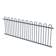 Protector Aluminium 2450 x 900mm Loop Top Fence Panel - Deep Ocean