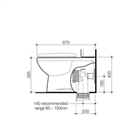 Stylus Venecia Wall Faced Toilet Pan