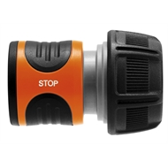 GARDENA 19mm Water Stop Hose Connector With Stop Valve