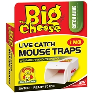 The Big Cheese Live Catch Mouse Trap - 2 Pack
