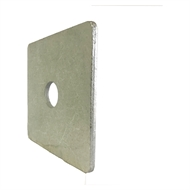 Macsim 100x100x5mm M20 Galvanised Square Washer Each