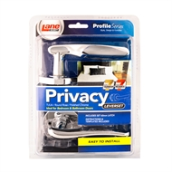 Lane Security 65mm Round Polished Chrome Privacy Tuija Lever Set