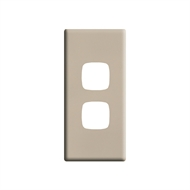 HPM LINEA 2 Gang Architrave Coverplate - Light Grey