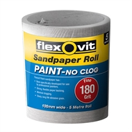 Flexovit 100mm x 5m 180 Grit Painted Surface Sandpaper Roll