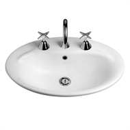 Caroma White Centro Vanity Basin 1TH