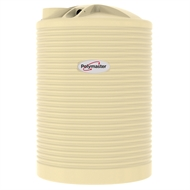Polymaster 3360L Round Corrugated Poly Water Tank - Beige