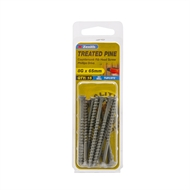 Zenith 8G x 65mm Tufcote Countersunk Ribbed Head Treated Pine Screws - 15 Pack