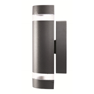 Brilliant 35W Charcoal Kimberley Up Down Exterior Wall Light
